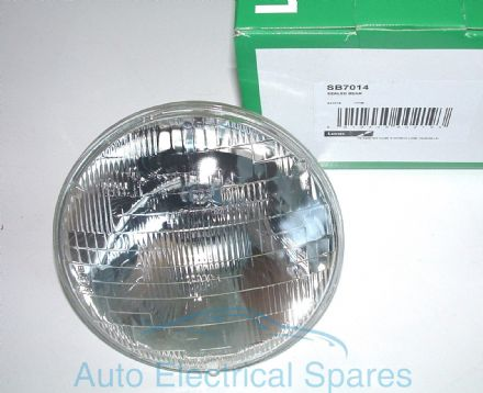 "Lucas 7014 &"" sealed beam headlamp unit WAGNER"